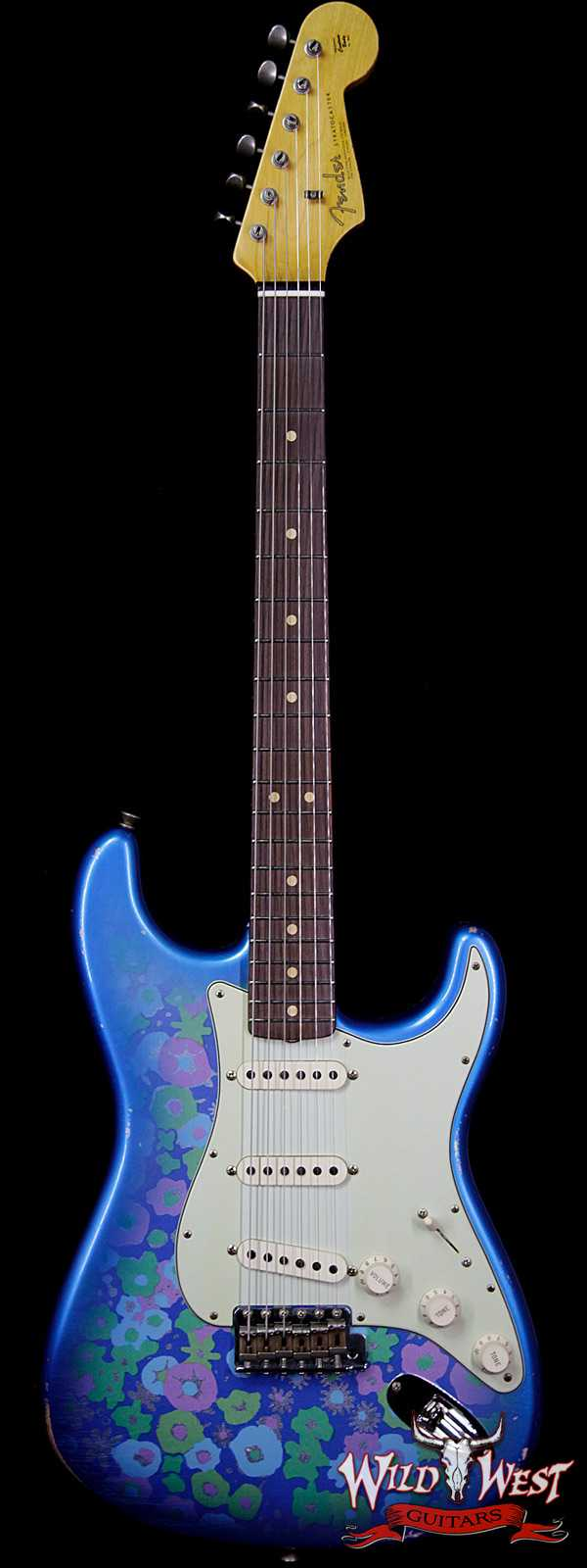 Fender Custom Shop 1963 Stratocaster Relic 63 Reissue AAA Rosewood Fingerboard Blue Flower