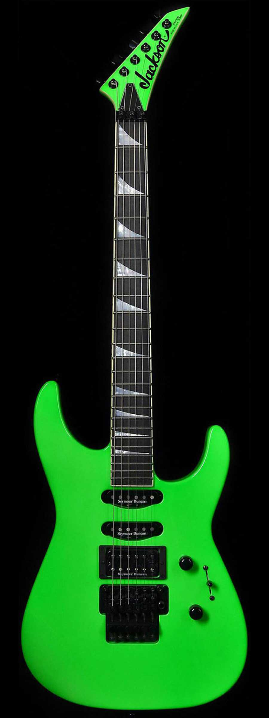 black neon electric guitar - photo #7