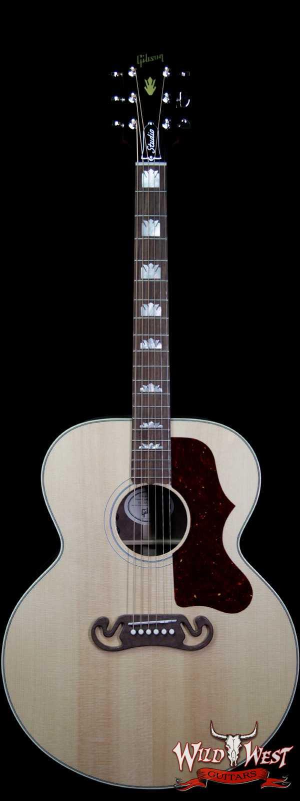 Gibson Montana SJ-200 Studio Walnut Natural Electric-Acoustic Guitar LR Baggs