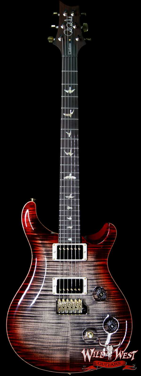 PRS Wood Library 10 Top Custom 24 Flame Maple Top Brazilian Rosewood Fingerboard Charcoal Cherry Burst