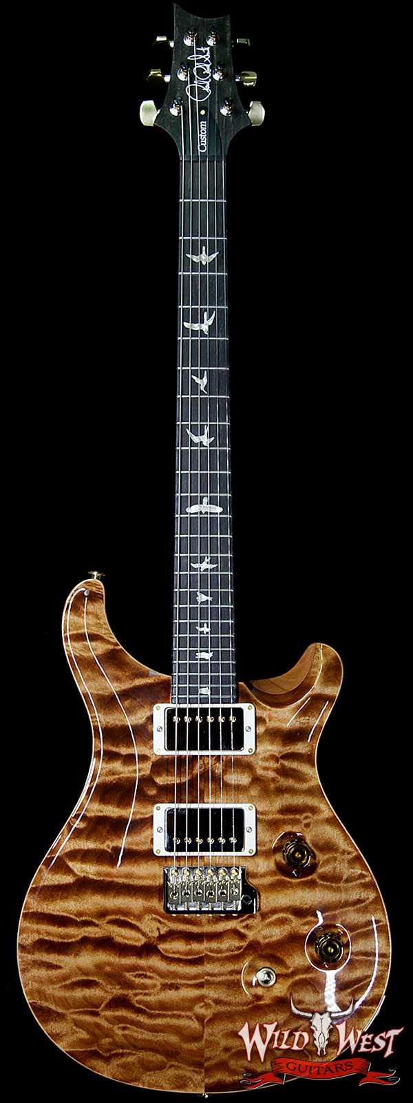 PRS Wood Library 10 Top Custom 24 Quilt Maple Top Ebony Fingerboard Copperhead