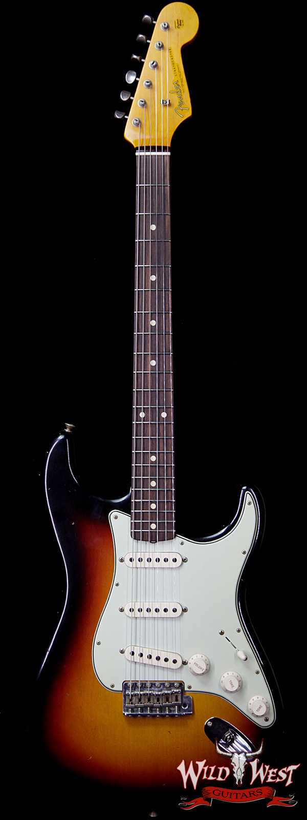 Fender Custom Shop 1961 Stratocaster Journeyman Relic Dirty Neck AAA Rosewood Slab Board 3 Tone Sunburst