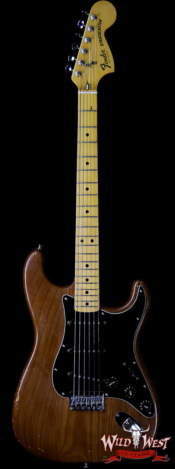 1979 Fender USA Stratocaster Hardtail Maple Neck Fat Head Mocha Brown