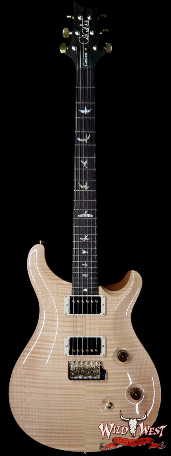 PRS Wood Library 10 Top Custom 24 Flame Maple Top w/ Brazilian Rosewood Fingerboard Natural
