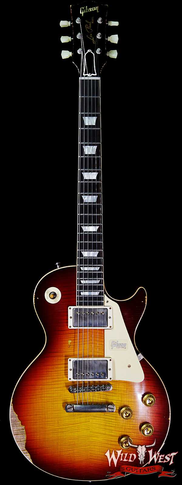Gibson Custom Shop Historic 1959 Les Paul Heavy Aged Hand Selected Killer Top Brazilian Rosewood Board Vintage Cherry 7.95 LBS