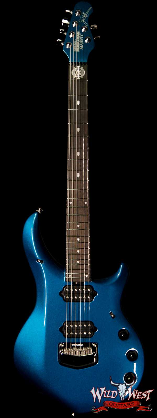 Ernie Ball Music Man Majesty 6 Kinetic Blue Ebony Fingerboard