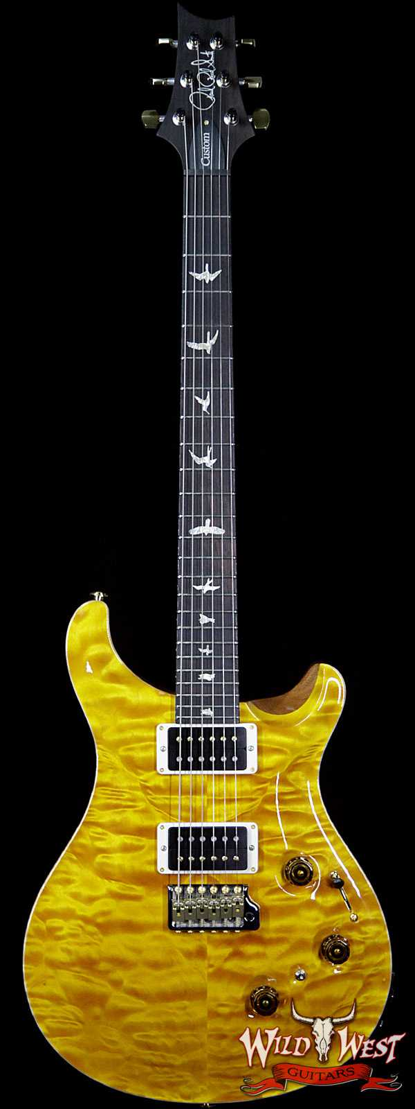 PRS Wood Library Artist Package Quilted Top Custom 24 Piezo P24 Brazilian Rosewood Board Santana Yellow