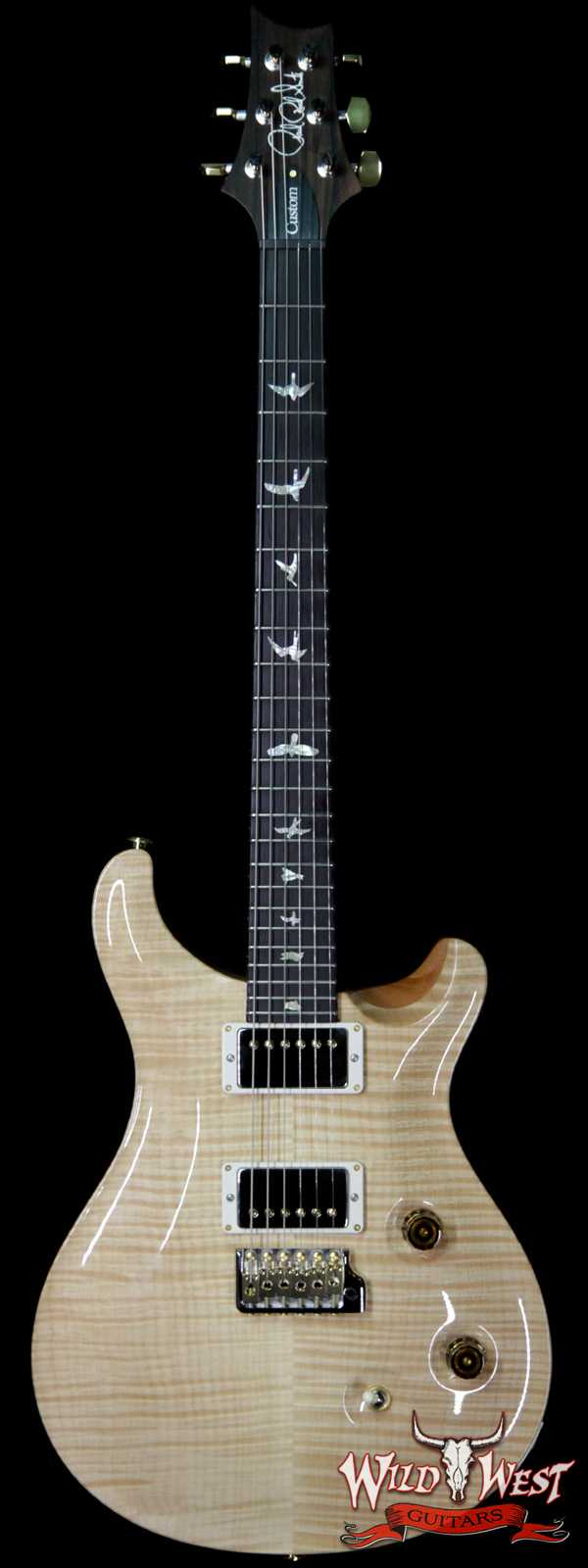 PRS Wood Library 10 Top Custom 24 Flame Top Brazilian Rosewood Board Natural 6.90 LBS