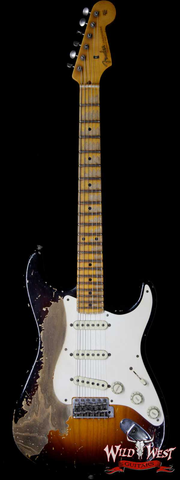 Fender Custom Shop John Cruz Masterbuilt 1957 Stratocaster Ash Heavy Relic 2 Tone Sunburst 6.85 LBS