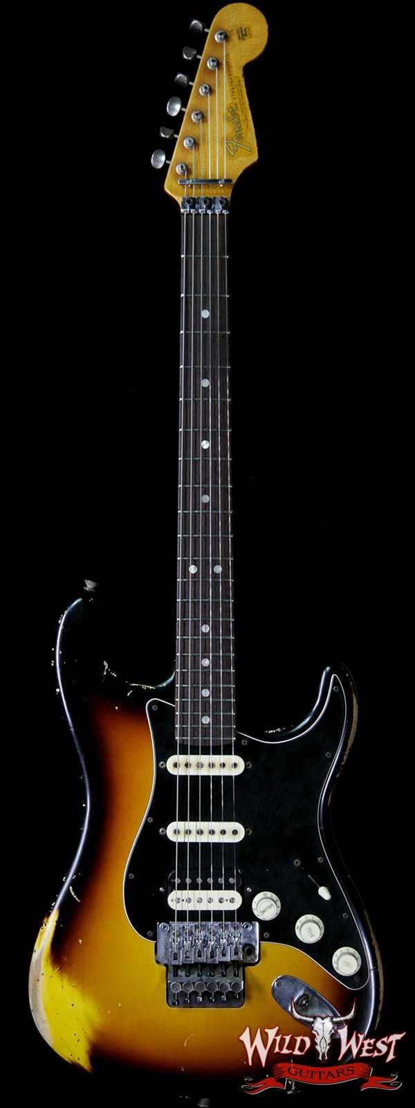 Fender Custom Shop John Cruz Masterbuilt 1965 Stratocaster HSS Floyd Rose Relic 3 Tone Sunburst