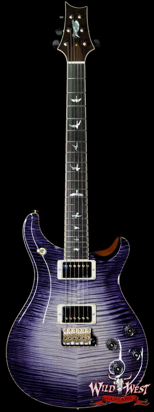 PRS Private Stock # 7826 McCarty 594 Trem Flame Top Brazilian Rosewood Board Purple Mist Glow