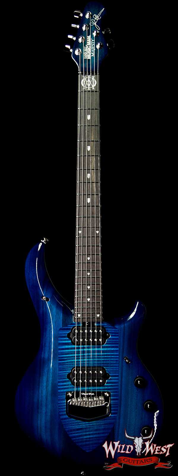 Ernie Ball Music Man Majesty 6 HH Piezo Bridge Ebony Fingerboard Blue Honu