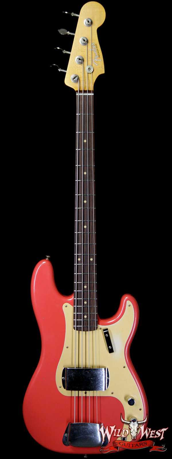 Fender Custom Shop 1959 Precision Bass Journeyman Relic AAA Rosewood Slab Board Josefina Hand-wound PU Fiesta Red