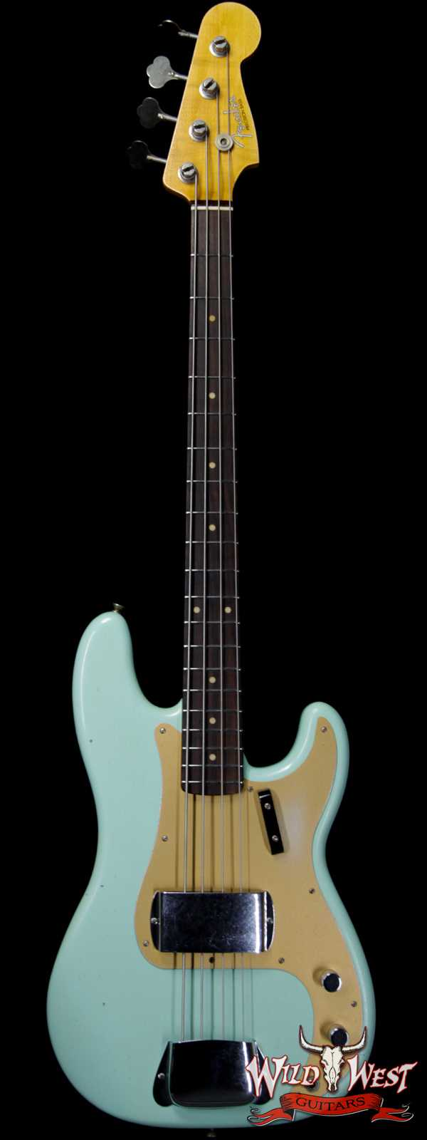 Fender Custom Shop 1959 Precision Bass Journeyman Relic AAA Rosewood Slab Board Handwound PU Surf Green