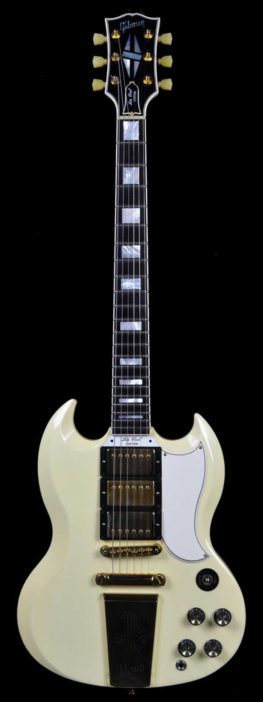 Gibson Custom Les Paul Sg 3 Pickup Classic White Preowned Wild 3pickup Electric Guitar With Case West Authentic