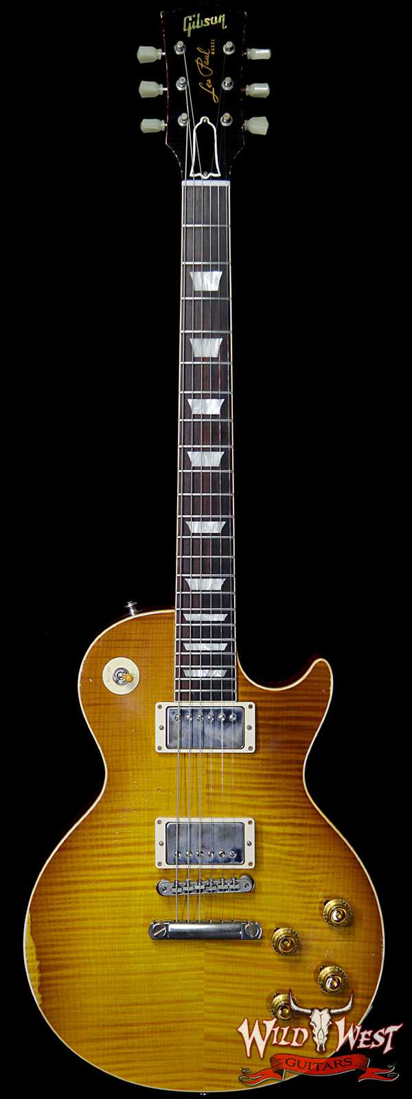 Gibson Custom Shop Historic 1959 Les Paul Aged Hand Selected Killer Top Brazilian Rosewood Board Honey Lemon Fade 8.05 LBS