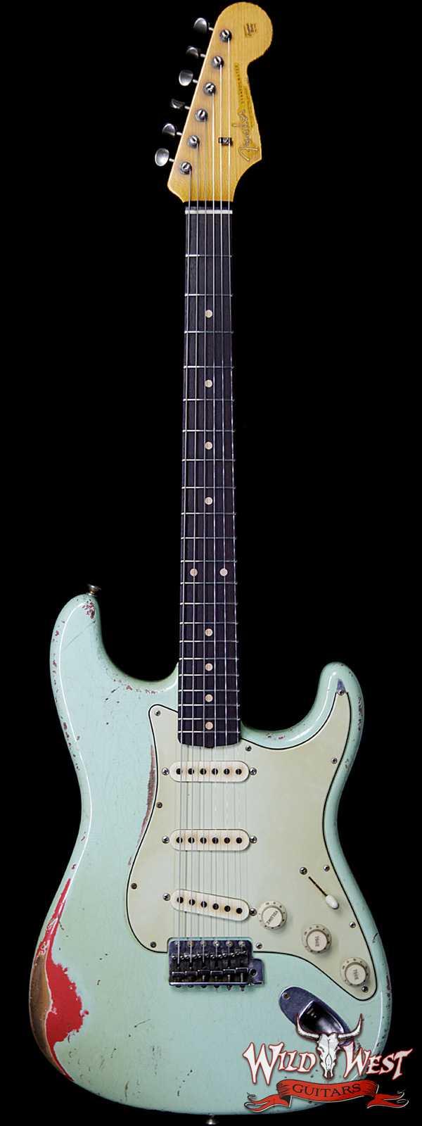 Fender Custom Shop John Cruz Masterbuilt 1962 Stratocaster Heavy Relic AAA Rosewood Slab Board Surf Green / Fiesta Red