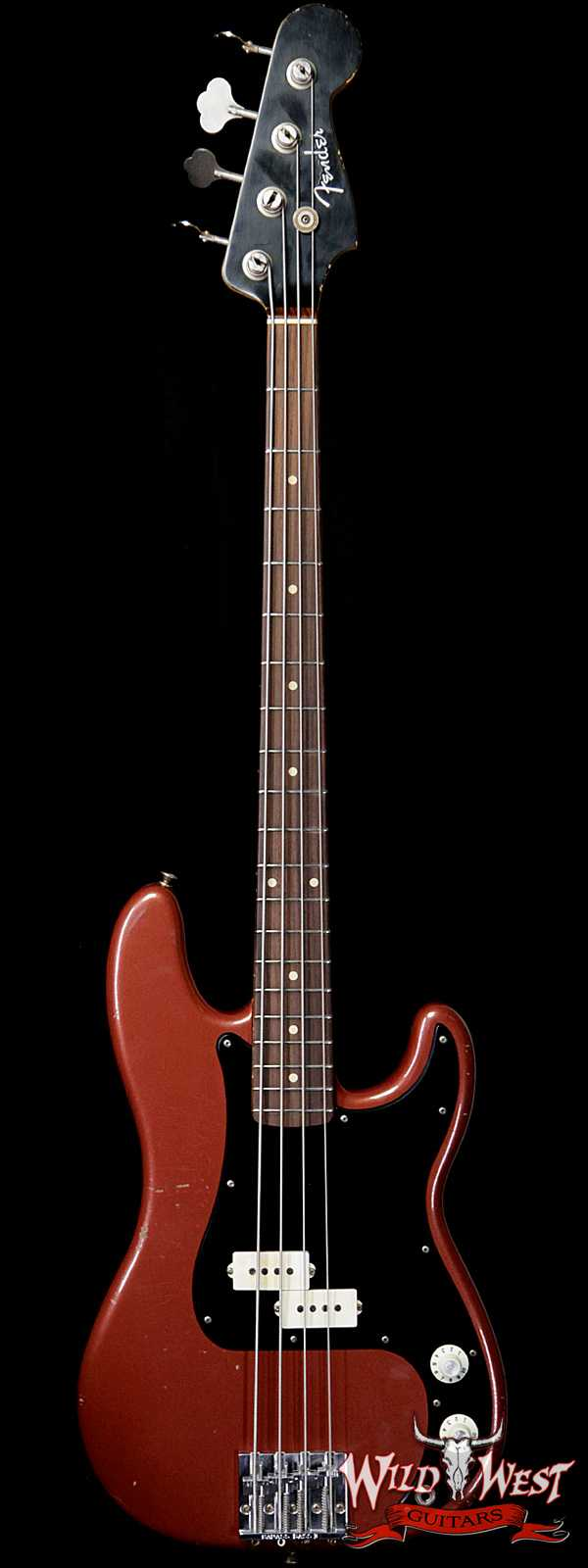Fender Custom Shop Jason Smith Masterbuilt 60's Precision P-Bass Relic AAA Rosewood Slab Board Indian Fire Red