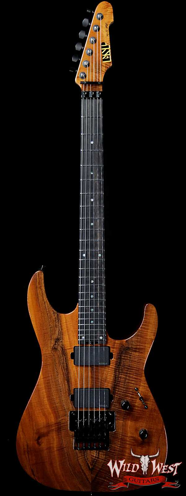 ESP USA M-II Floyd Rose Koa Top with Ebony Fretboard EMG Pickups Natural