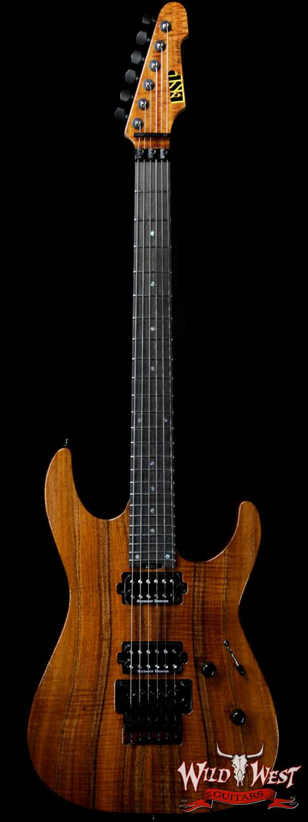 ESP USA M-II Floyd Rose Koa Top with Ebony Fretboard Natural