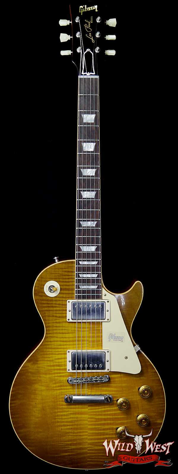 Gibson Custom Shop Historic 1959 Les Paul Vintage Gloss Brazilian Rosewood Fingerboard Green Lemon 8.85 LBS