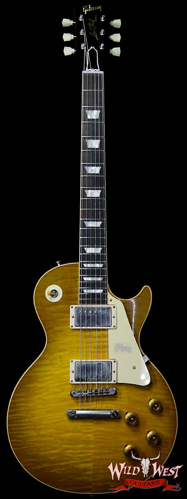 Gibson Custom Shop Historic 1959 Les Paul Vintage Gloss Brazilian Rosewood Fingerboard Green Lemon 8.75 LBS