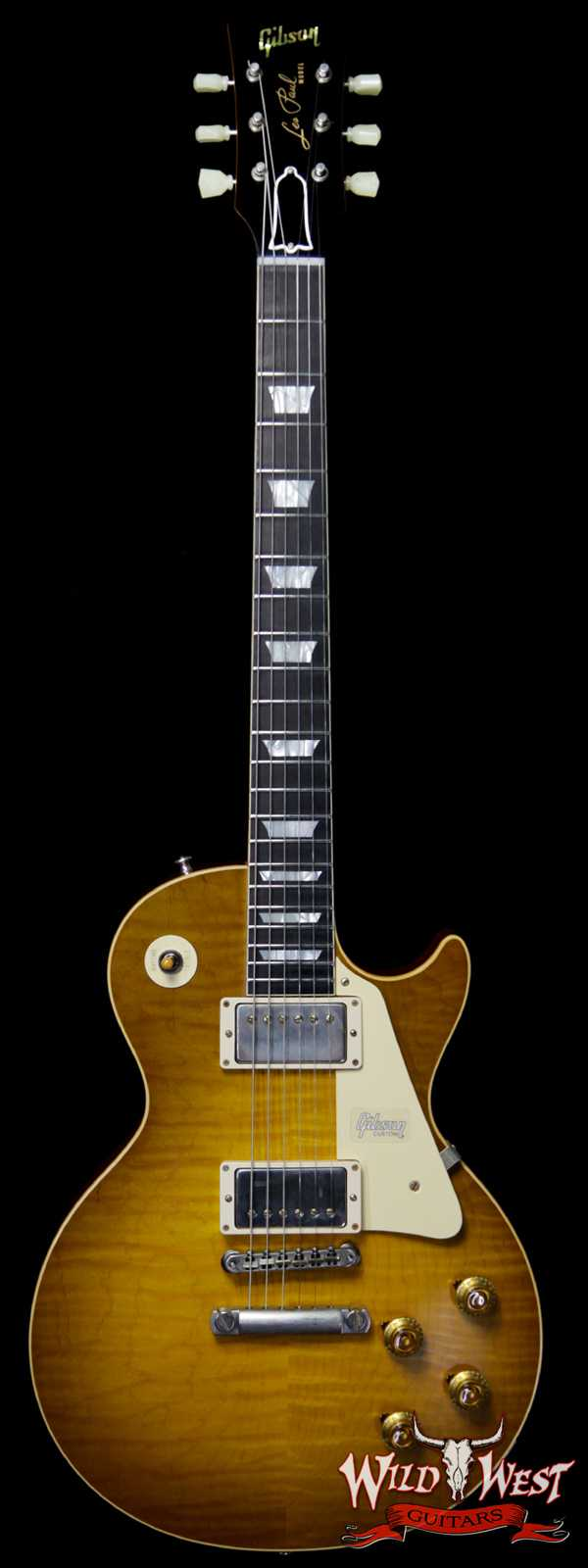 Gibson Custom Shop Historic 1959 Les Paul Vintage Gloss Brazilian Rosewood Fingerboard Green Lemon 8.75 Pounds