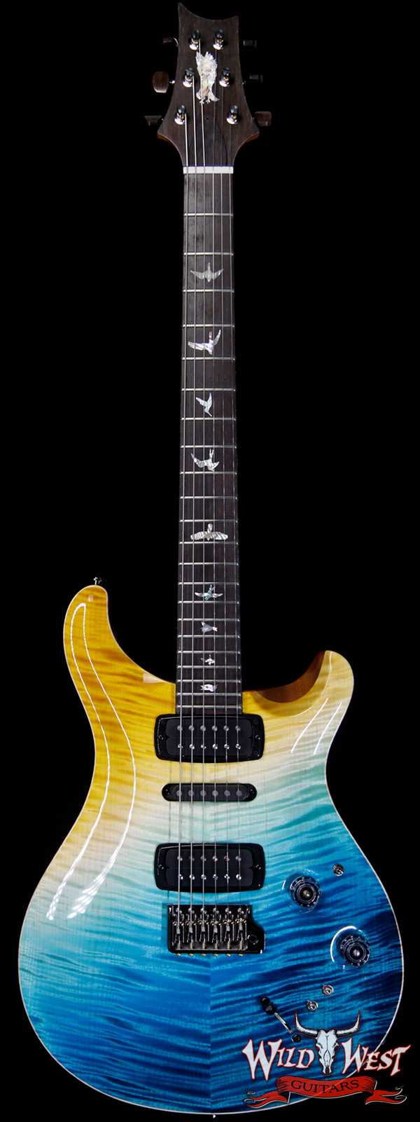 PRS Private Stock Modern Eagle V Limited Brazilian Rosewood Fingerboard Beach Cross Fade