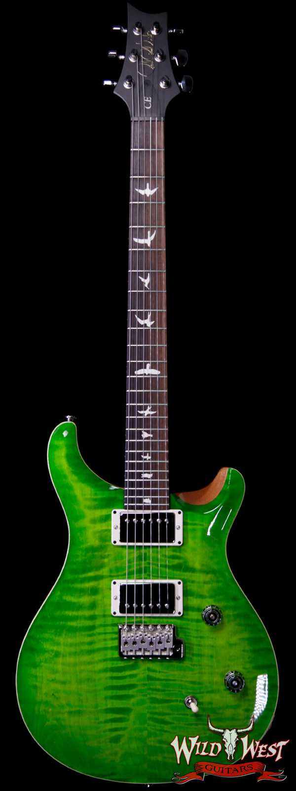 Paul Reed Smith PRS Wild West Guitars Special Run CE 24 Flame Top Painted Neck 57/08 Pickups Eriza Verde 284840
