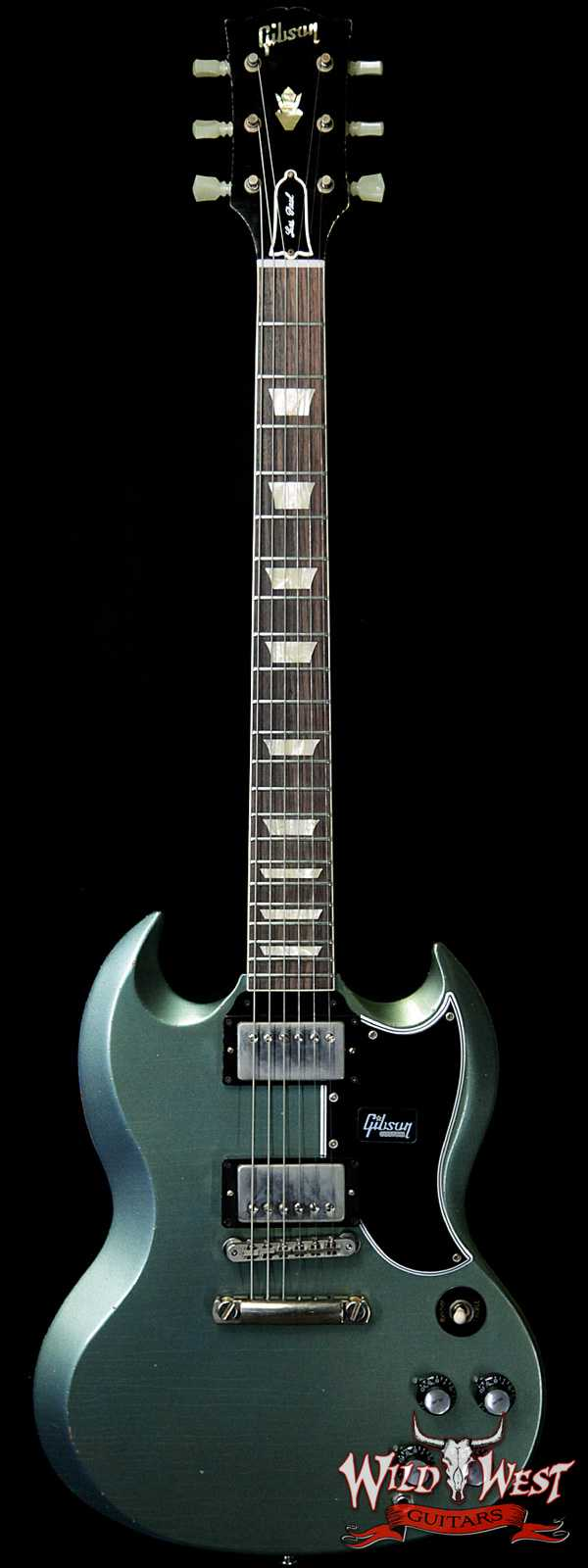 Gibson Custom Shop '61 1961 SG Standard Reissue Stop Bar Aged Metallic Teal 6.25 LBS