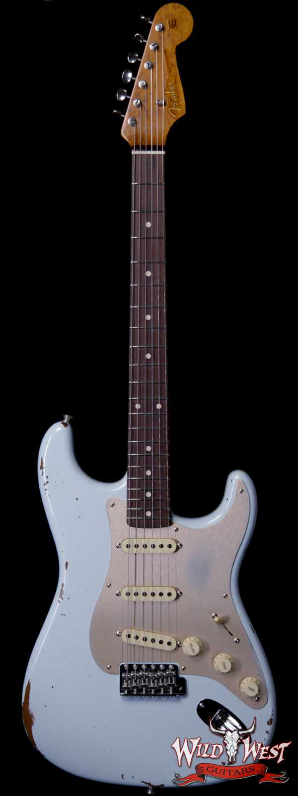 Fender Custom Shop 1960 Roasted Stratocaster Relic Birdseye Maple Neck AAA Rosewood Slab Board Sonic Blue