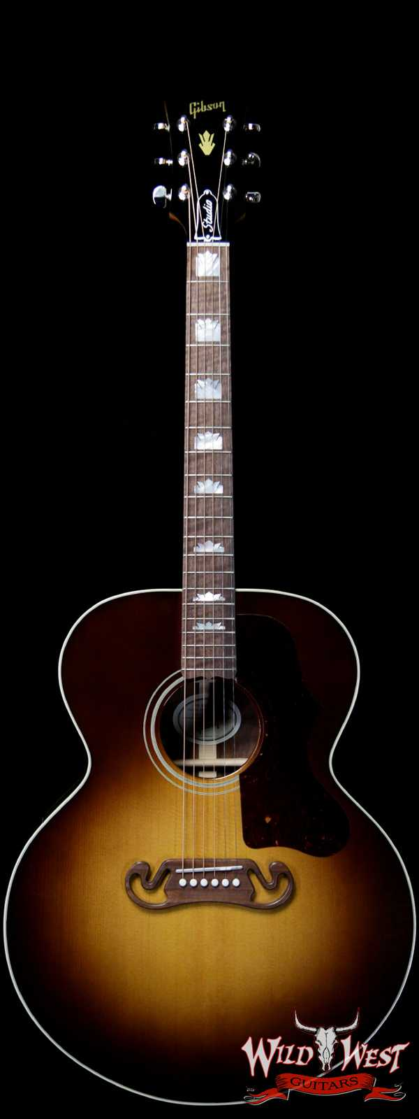 Gibson Montana SJ-200 Studio Walnut Burst Electric-Acoustic Guitar
