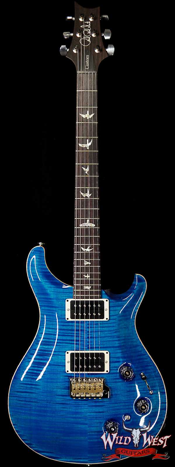 Paul Reed Smith PRS Core Model Flame Maple Top Custom 22 Piezo Rosewood Fingerboard Aquamarine