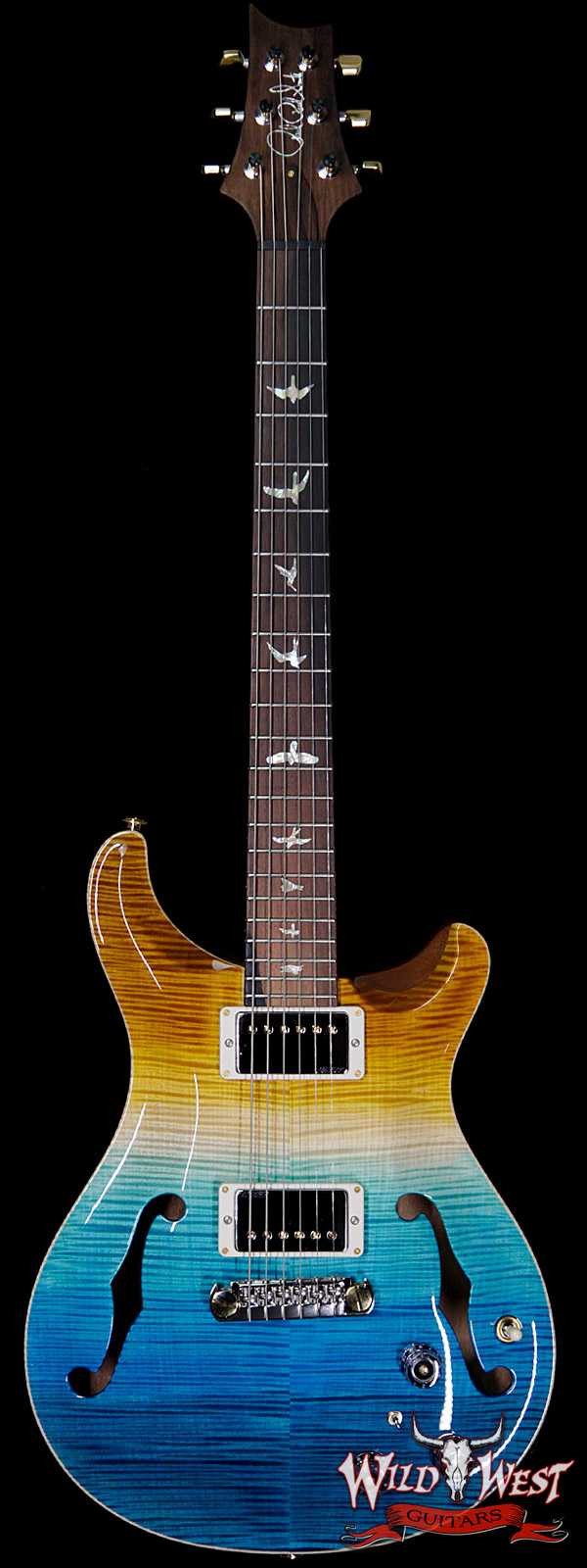 PRS Wild West Guitars 20th Anniversary Limited Run # 4 of 40 Wood Library Artist Package Hollowbody I Piezo HB1 Beach Cross Fade(Private Stock Color)