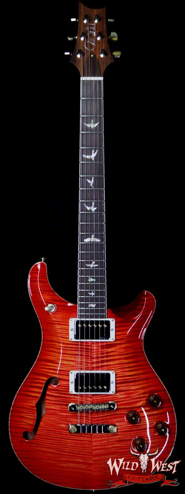 PRS Wild West Guitars 20th Anniversary Limited Run # 22 of 40 Wood Library Artist Package Semi-Hollow McCarty 594 Blood Orange