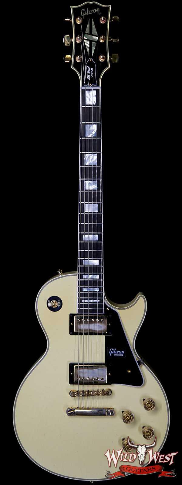 Gibson Custom Shop M2M 1974 Les Paul Custom Reissue Aged Ebony Fingerboard Classic White