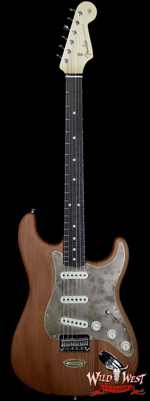 Fender Custom Shop Yuriy Shishkov Masterbuilt Airfield Stratocaster Closet Classic Reclaimed Redwood from Hangar One Zeppelin Storage