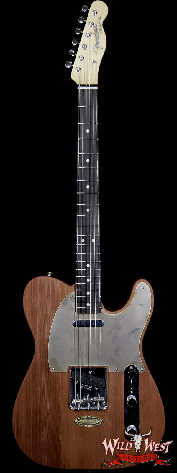 Fender Custom Shop Yuriy Shishkov Masterbuilt Airfield Telecaster Closet Classic Reclaimed Redwood from Hangar One Zeppelin Storage