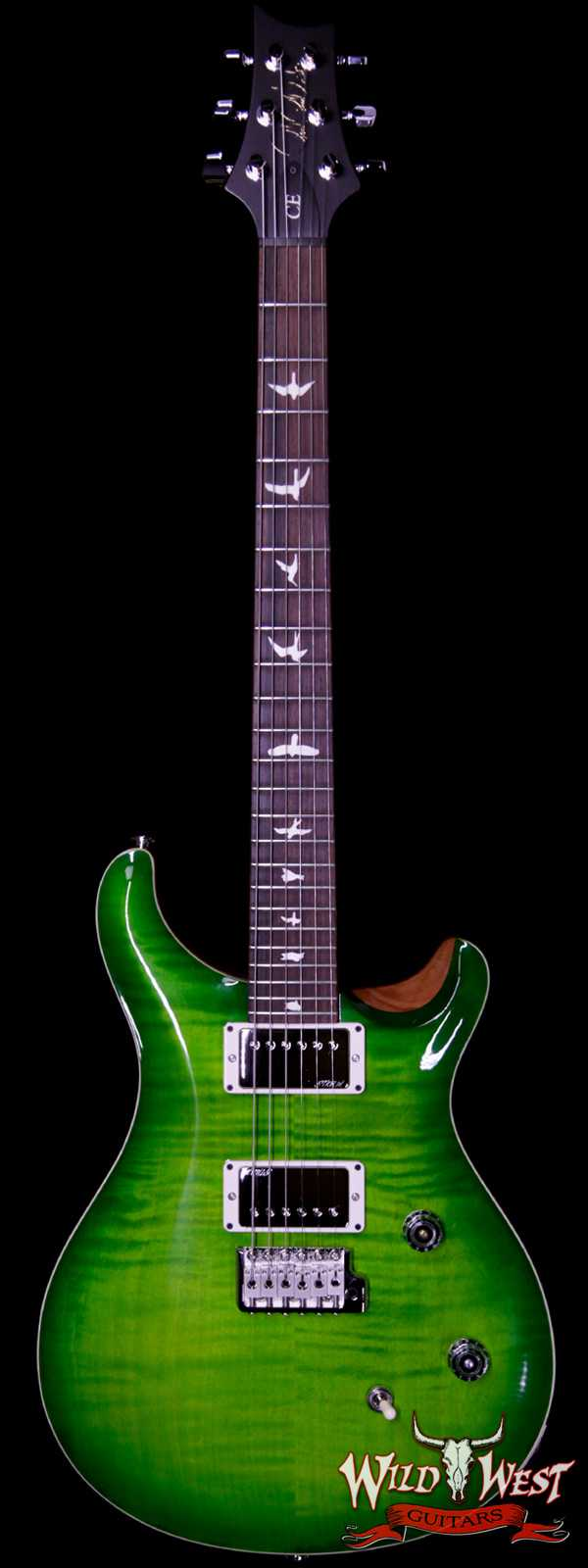Paul Reed Smith PRS Wild West Guitars Special Run CE 24 Flame Top Painted Neck 57/08 Pickups Eriza Verde 283428