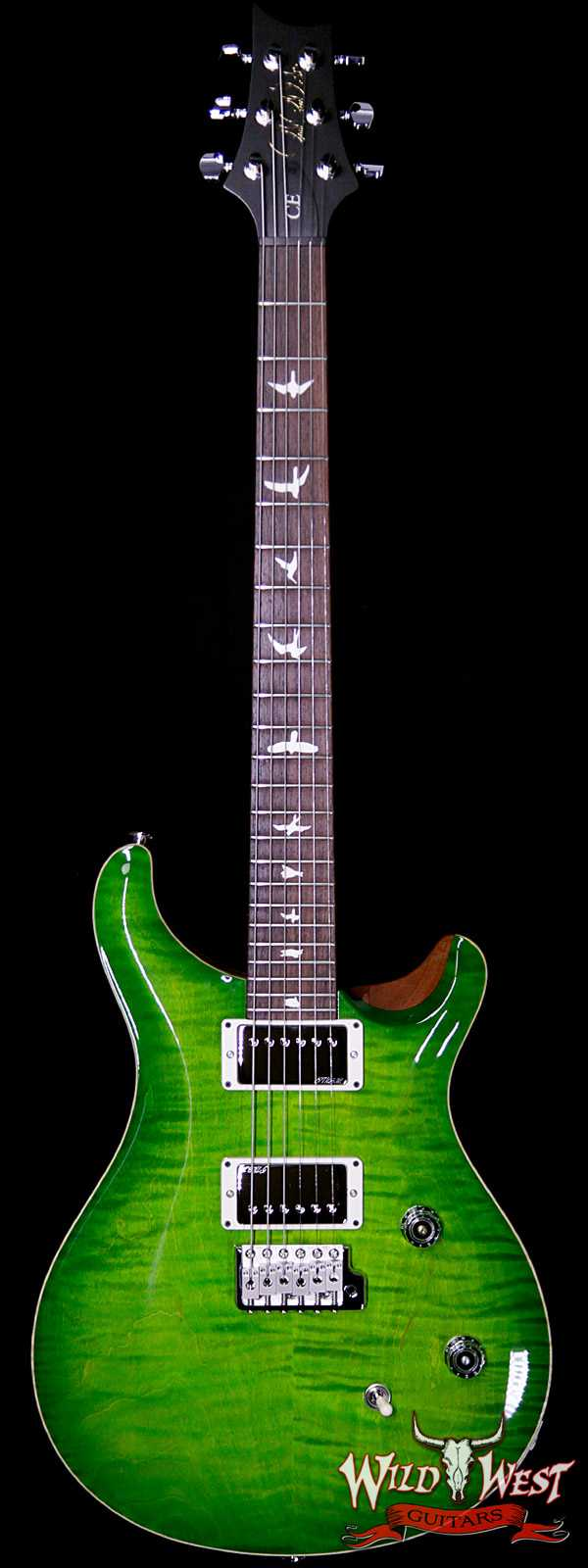 Paul Reed Smith PRS Wild West Guitars Special Run CE 24 Flame Top Painted Neck 57/08 Pickups Eriza Verde 285217