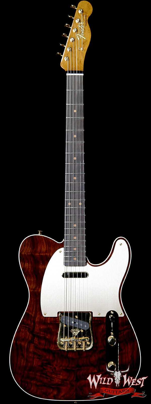 2018 Fender Custom Shop Artisan Telecaster Figured Rosewood Top Roasted Birdseye Maple Neck African Blackwood Board Natural
