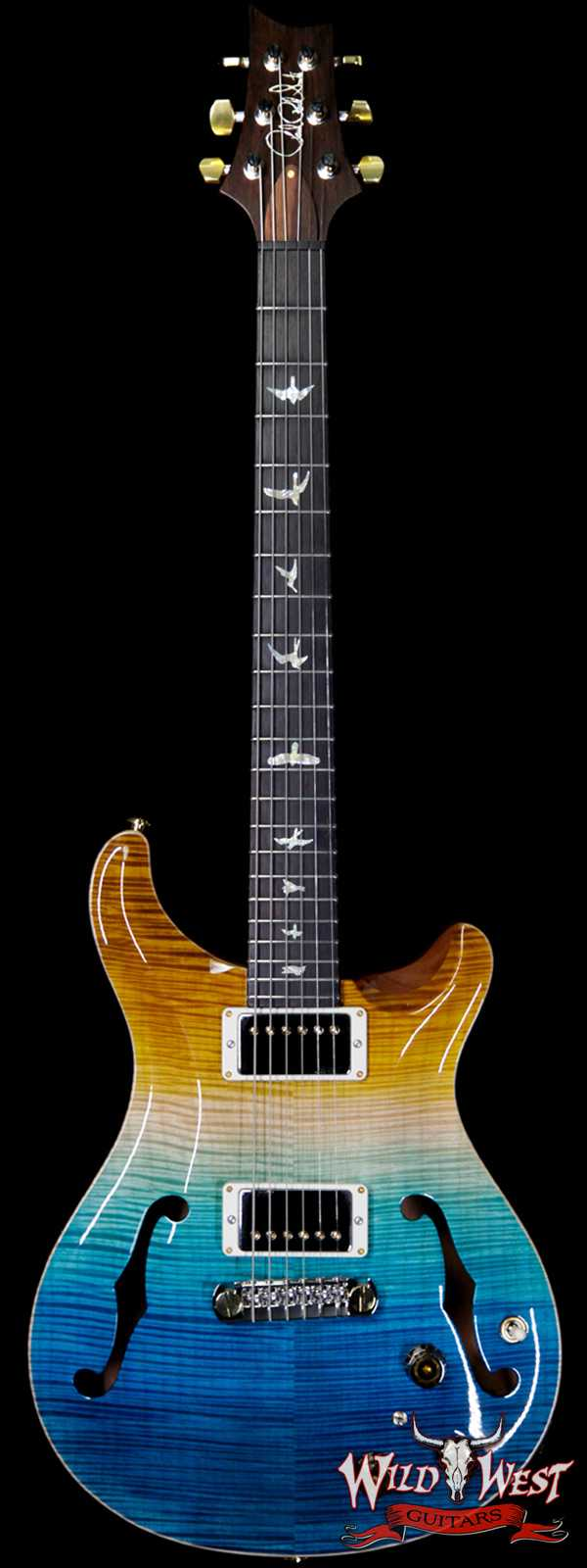 PRS Wild West Guitars 20th Anniversary Limited Run # 2 of 40 Wood Library Artist Package Hollowbody I Piezo HB1 Beach Cross Fade(Private Stock Color)