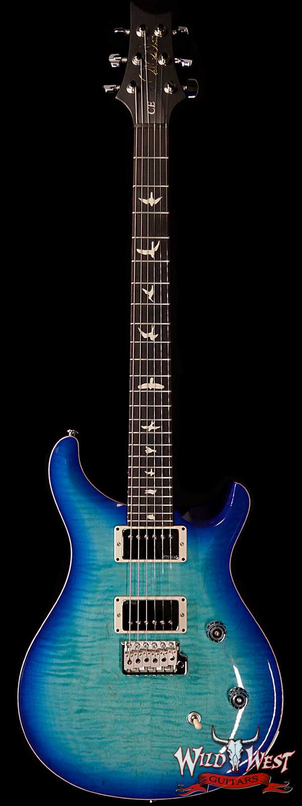 Paul Reed Smith PRS Wild West Guitars Special Run CE 24 Flame Top Painted Neck 57/08 Pickups Makena Blue 288743