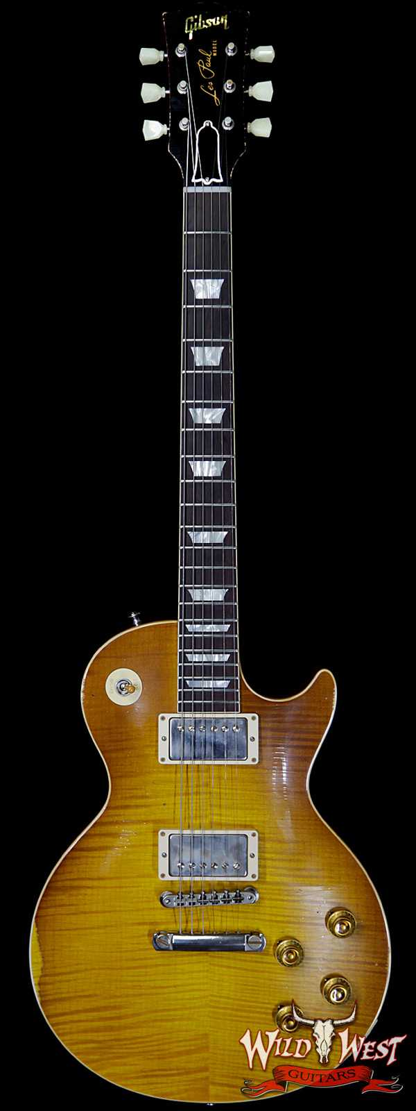 Gibson Custom Shop Historic 1959 Les Paul Aged Hand Selected Killer Top Brazilian Rosewood Board Honey Lemon Fade 8.00 LBS