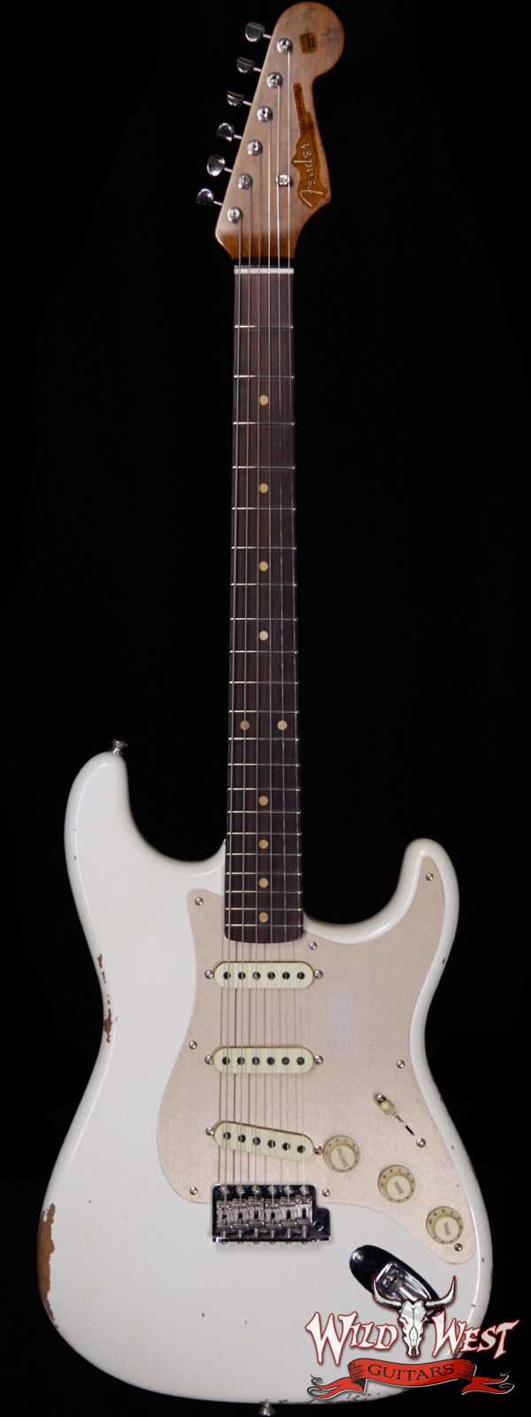 Fender Custom Shop Roasted 1960 Stratocaster Relic 3A Birdseye Maple Neck 3A Rosewood Board Aged Olympic White