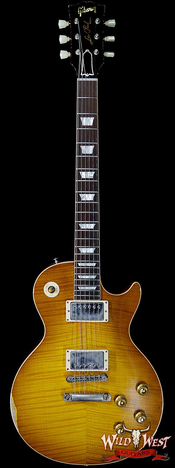 Gibson Custom Shop Historic 1959 Les Paul Aged Hand Selected Killer Top Brazilian Rosewood Board Dirty Lemon 8.40 LBS