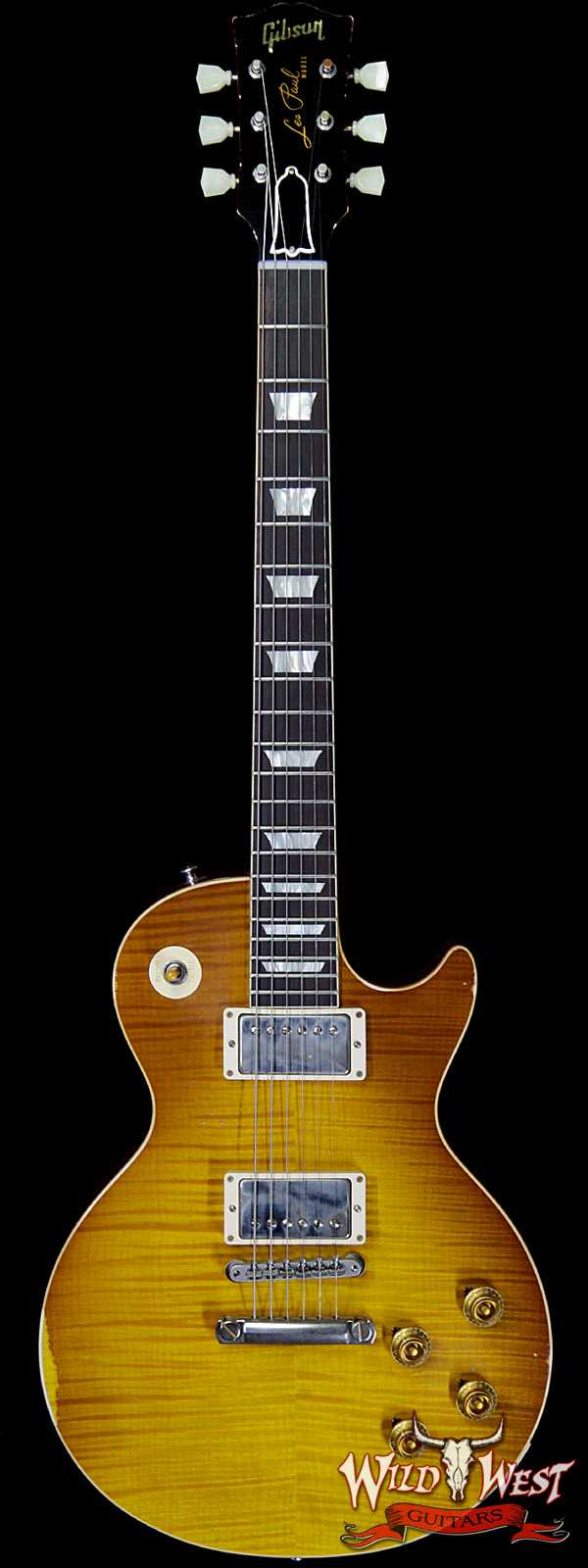 Gibson Custom Shop Historic 1959 Les Paul Aged Hand Selected Killer Top Brazilian Rosewood Board Honey Lemon 8.25 LBS