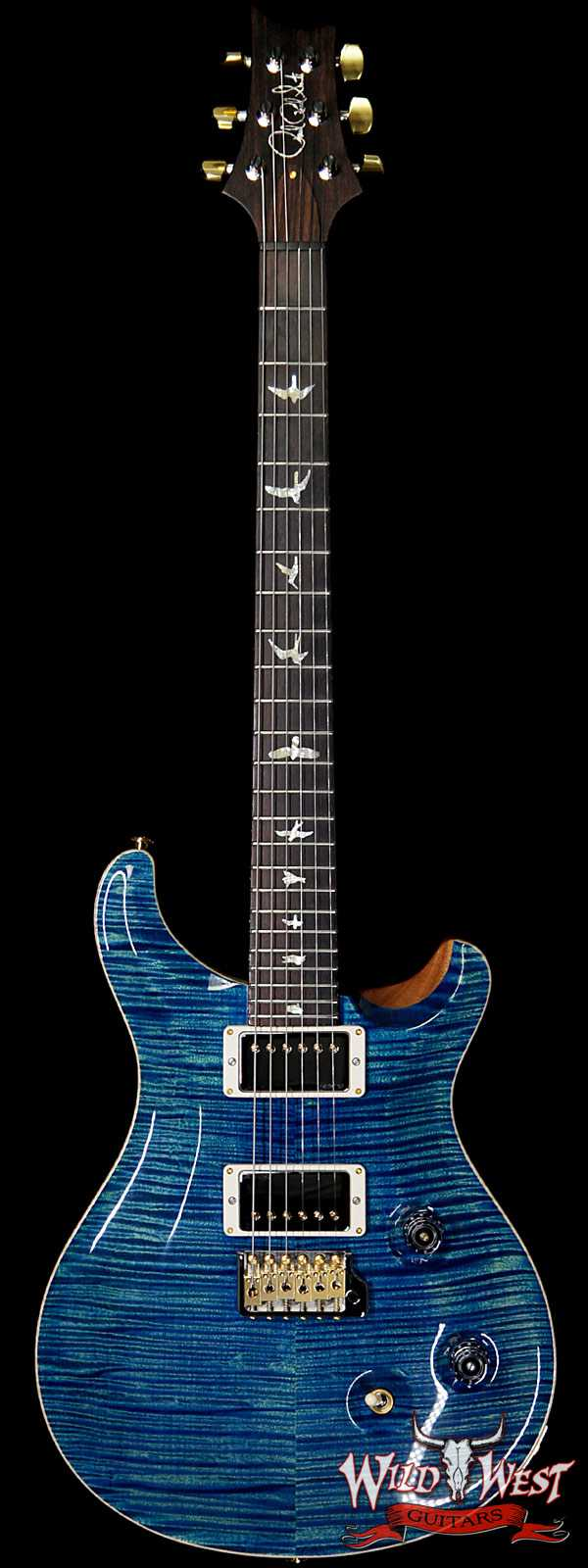 PRS Wild West Guitars 20th Anniversary Limited Run # 32 of 40 Wood Library Artist Package Custom 24 Flame Maple Neck River Blue