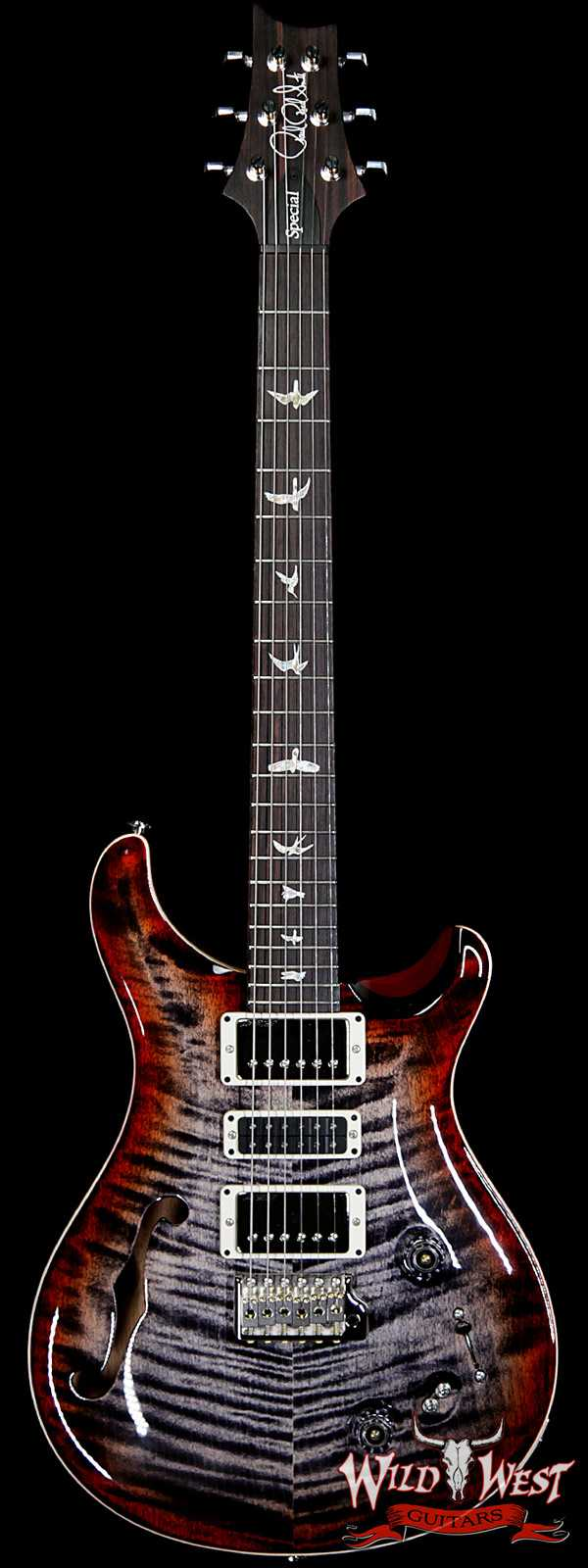 Paul Reed Smith PRS Limited Edition Special 22 Semi-Hollow Rosewood Fingerboard Charcoal Cherry Burst
