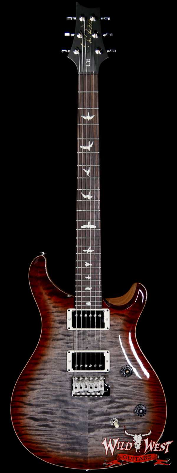 PRS WWG Special Run CE 24 57/08 Pickups Painted Black Neck Faded Gray Black Cherry Burst 286750